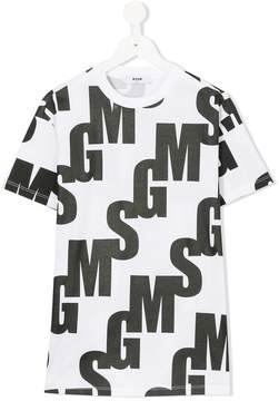 MSGM monogram T-shirt