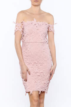 Ark & Co Pink Crochet Dress