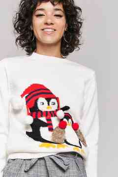 Forever 21 Penguin Graphic Holiday Sweater