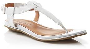 Gentle Souls Flat Thong Sandals - Metallic T-Strap