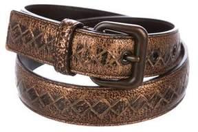 Bottega Veneta Metallic Intrecciato Belt