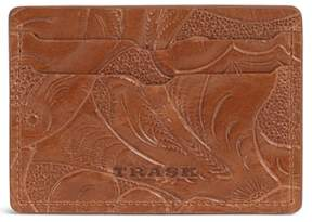 Trask Men's 'Jackson' Italian Steer Leather Card Case - Brown
