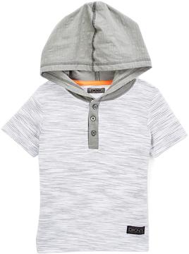 DKNY White Cooper Hooded Tee - Toddler & Boys