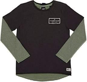 Scotch Shrunk Layered Cotton Jersey T-Shirt