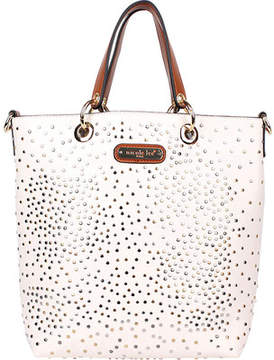Nicole Lee Zena Studded Tote Bag with Removable Pouch (Women's)