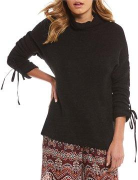 Chelsea & Violet Turtleneck Tie Sleeve Sweater
