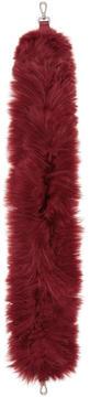 Fendi Red Alpaca Hairy Bag Strap