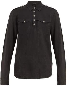 Balmain Long-sleeved cotton polo shirt