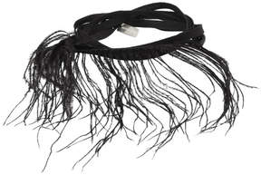 Ann Demeulemeester Black Feather and Ribbon Bracelet