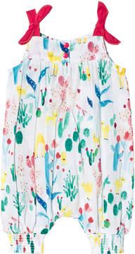 Catimini Multi Tropical Floral Print Sleeveless Romper