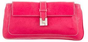 Lambertson Truex Leather Flap Clutch
