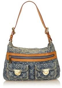 Louis Vuitton Pre-owned: Monogram Denim Baggy Pm. - BLUE - STYLE