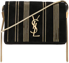 Saint Laurent Small Chain Studded Suede Kate Chain Bag