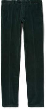 Boglioli Dark-Green Slim-Fit Stretch-Cotton Corduroy Suit Trousers