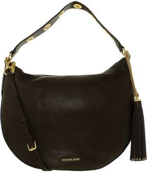 Michael Kors Women's Large Brooklyn Convertible Leather Shoulder Bag Hobo - Coffee - COFFEE - STYLE