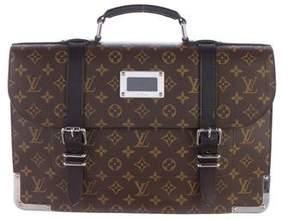 Louis Vuitton Monogram Macassar Canvas Larry Briefcase