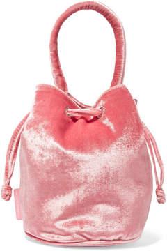 Loeffler Randall Jesmyn Velvet Bucket Bag - Blush