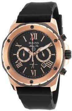 Bulova 98B104 Mens Rose Gold Marine Star Chronograph Watch