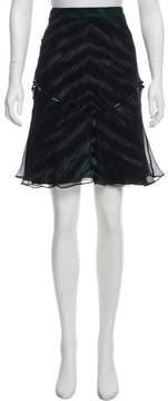 Barbara Bui Printed Silk Skirt