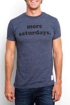 Original Retro Brand More Saturdays Short Sleeve Tee
