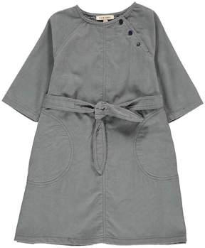 Caramel Norwich Ribbed Velvet Dress With Belt