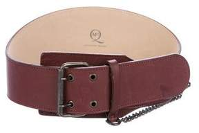 Alexander McQueen Chain-Link & Leather Waist Belt