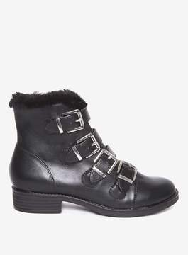 Dorothy Perkins Black 'Malex' Faux Fur Lined Ankle Boots