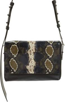 AllSaints Versailles Python Print Leather Shoulder Bag