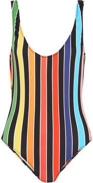 Caroline Constas Aristi Striped Swimsuit - Red