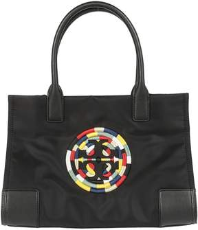 Tory Burch Embroidered Logo Tote - NERO - STYLE