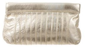 Lauren Merkin Metallic Leather Clutch