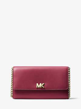 Michael Kors Mott Leather Clutch - PURPLE - STYLE
