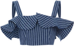 Alexis Benta Ruffled Crop Top