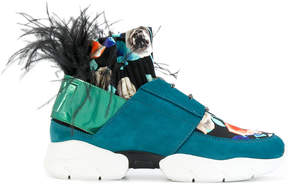 MSGM feathered sneakers