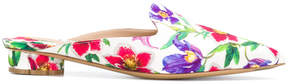 Salvatore Ferragamo Flower Heel floral-print mules