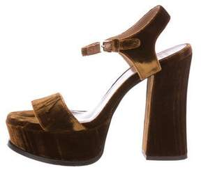 Laurence Dacade Velvet Platform Sandals