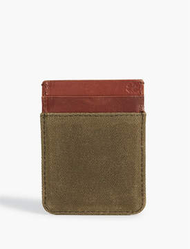 Lucky Brand LEATHER TRIM CARD CASE
