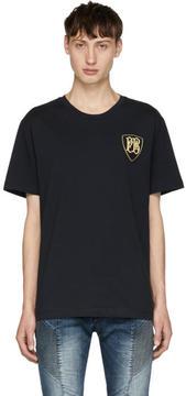 Pierre Balmain Navy Crest Logo T-Shirt
