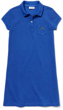 Lacoste Girl's Solid Petit Piqu Cotton Flared Dress