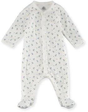 Petit Bateau Little Chicks Printed Footie Pajamas, Size Newborn-9M