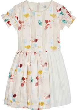 No Added Sugar Floral pleated fit and flare dress 4-12 years