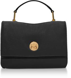 Coccinelle Grainy Leather Medium Liya Satchel Bag