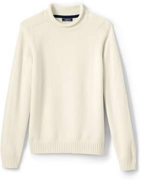 Lands' End Lands'end Men's Solid Roll Neck Sweater