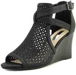 INC International Concepts Reiaa Open Toe Synthetic Wedge Sandal.