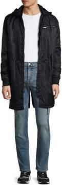 Karl Lagerfeld Men's Sporty Anorak Raincoat