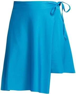 Balenciaga Wraparound asymmetric-hem skirt