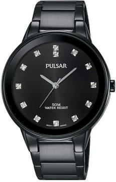 Pulsar Dress Mens Black Bracelet Watch-Pg2051