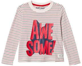Joules Cream Stripe Awesome Long Sleeve Tee