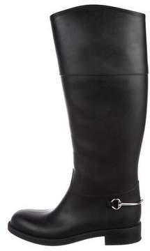 Gucci Rubber Horsebit Boots