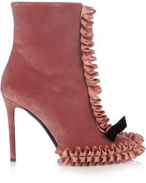 Marco De Vincenzo Velvet ankle boots